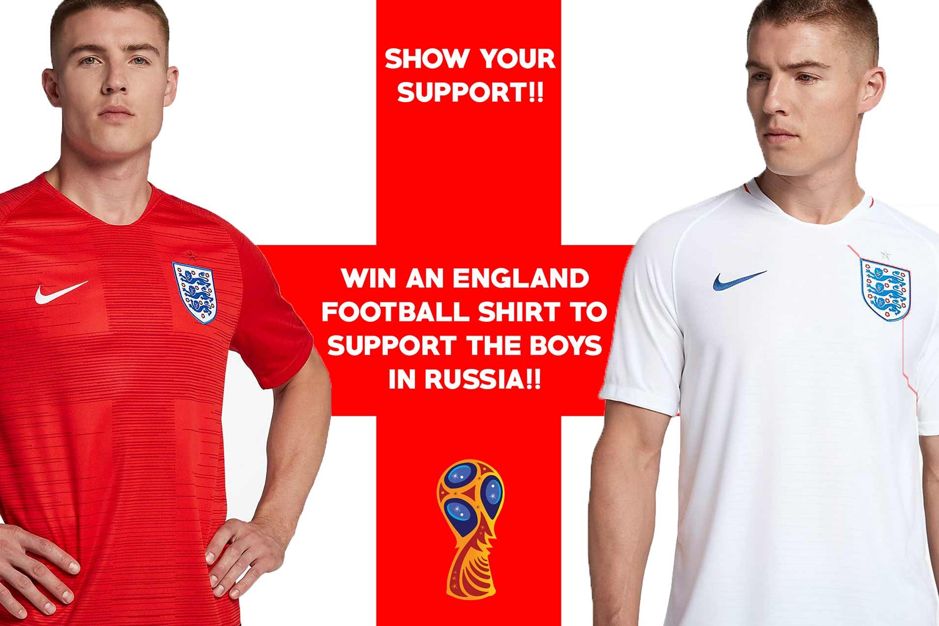 WIN and official England Football Shirt